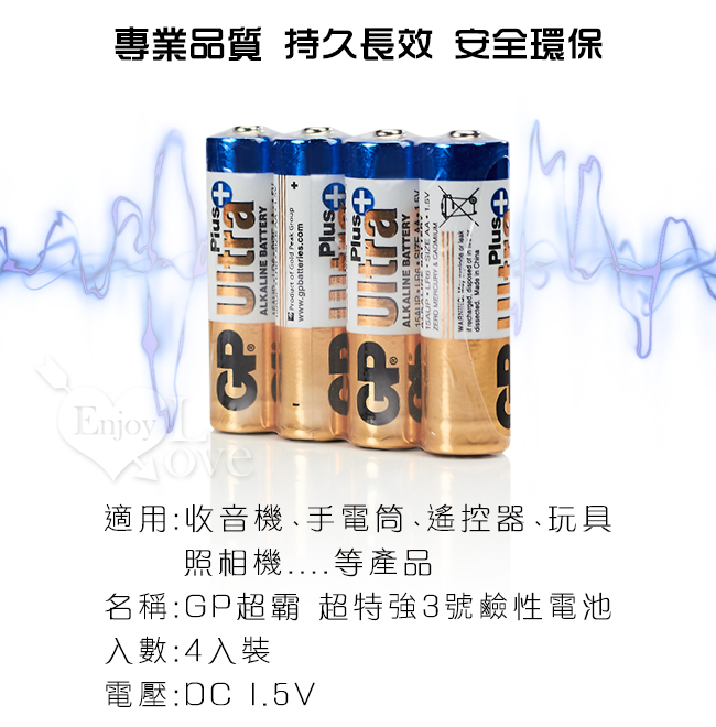 GP超霸‧超特強 鹼性電池3號 AA﹝4入經濟裝﹞